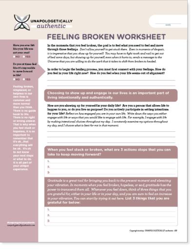 Feeling Broken Worksheet